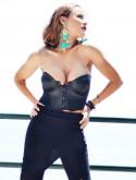 Black punk corset
