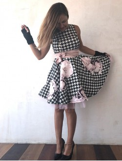 BLACK WHITE AND PINK