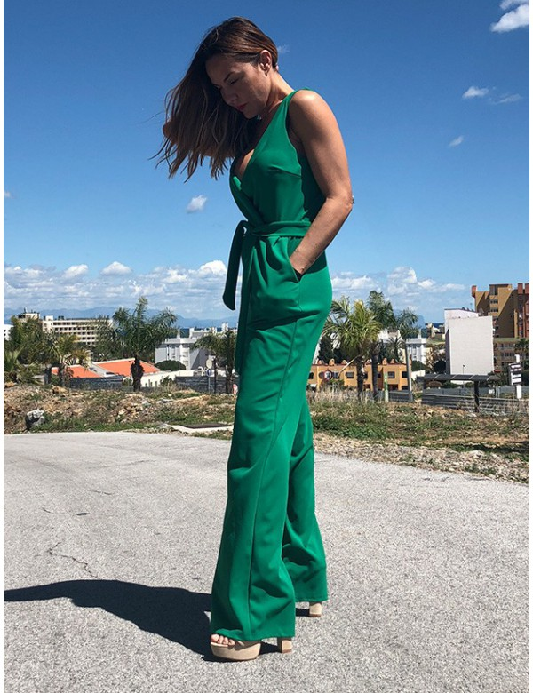 APPLE GREEN JUMPSUIT