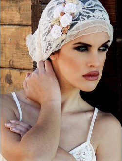 LACE AND CREAM BANDAGE.