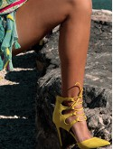 YELLOW SEXY SHOES