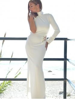 WHITE DRESS LONG
