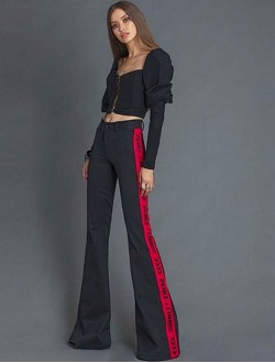 RED PEACE PANTS